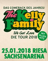 THE KELLY FAMILY am 25.01.2018 in Riesa, SACHSENarena