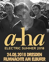 A-HA am 24.08.2018 in Dresden, Filmnächte am Elbufer