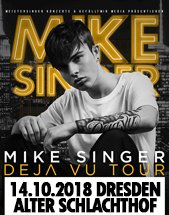 MIKE SINGER am 14.10.2018 in Dresden, Alter Schlachthof