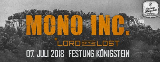 MONO INC. & LORD OF THE LOST am 07.07.2018