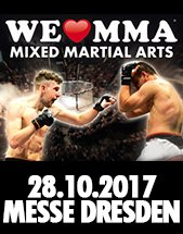 WE LOVE MMA: MIXED MARTIAL ARTS am 20.10.2018 in Dresden, MESSE DRESDEN