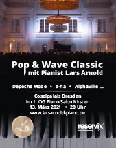 LARS ARNOLD - POP&WAVE am 13.03.2021 in Dresden, Piano Salon im Coselpalais