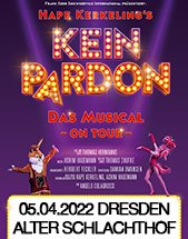 Hape Kerkelings Kein Pardon - Das Musical - On Tour am 05.04.2022 in Dresden, Alter Schlachthof